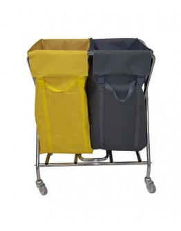 Çöp Toplama Arabası X 2'Li Brandalı Krom